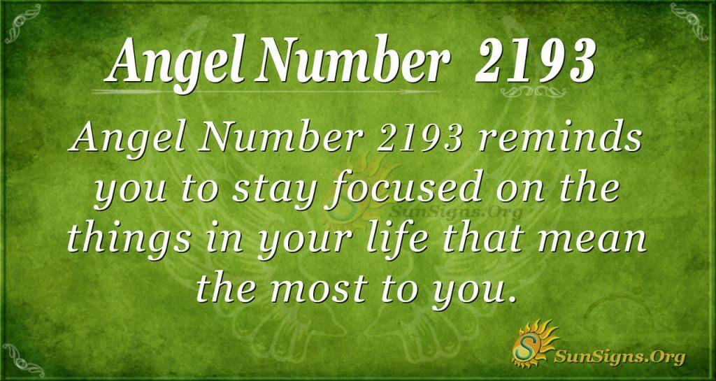 Angel Number 2193