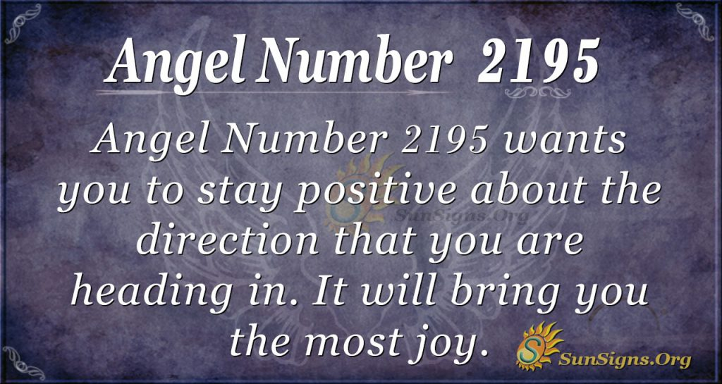 Angel Number 2195