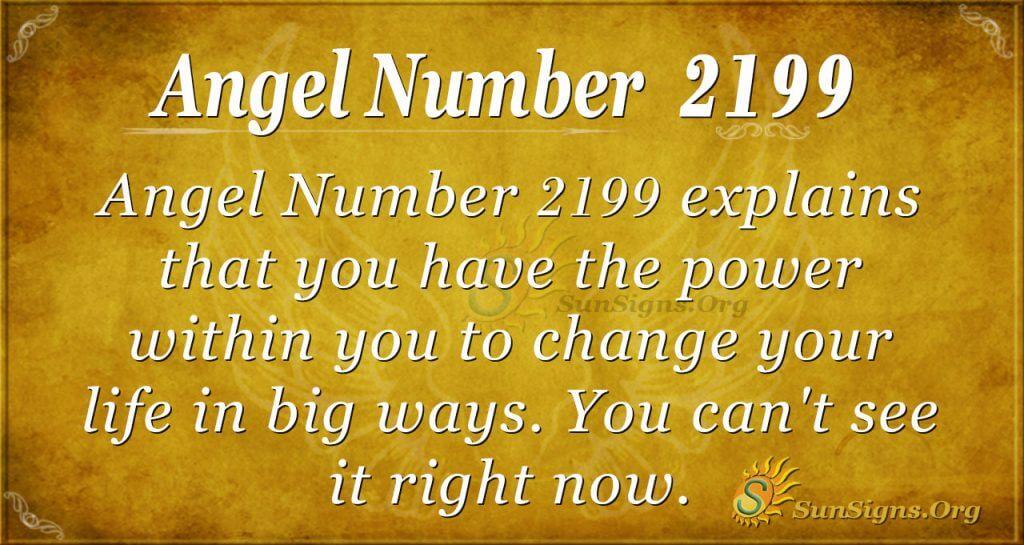 Angel number 2199