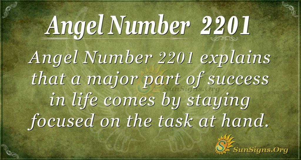 angel number 2201