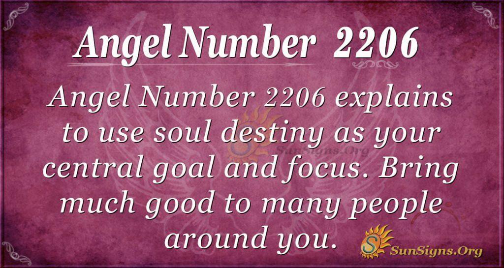 angel number 2206