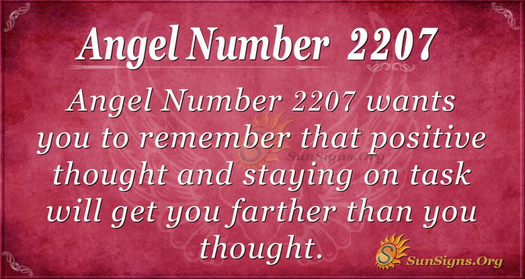 angel number 2207