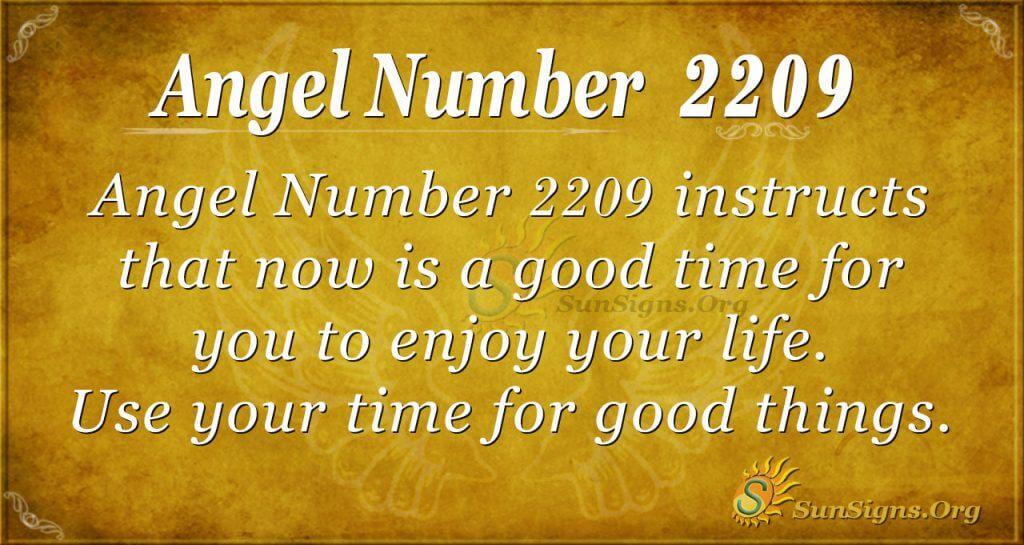 angel number 2209