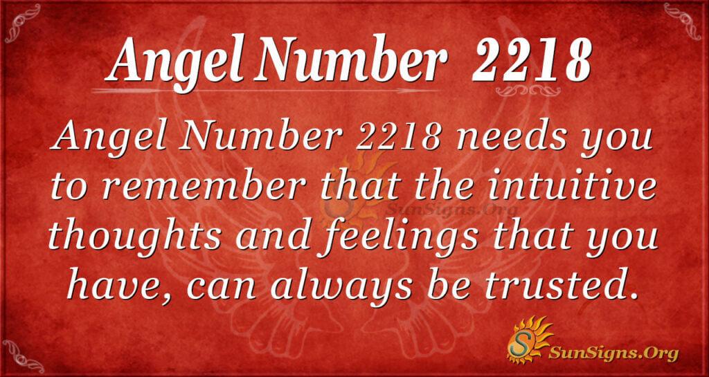 2218 angel number