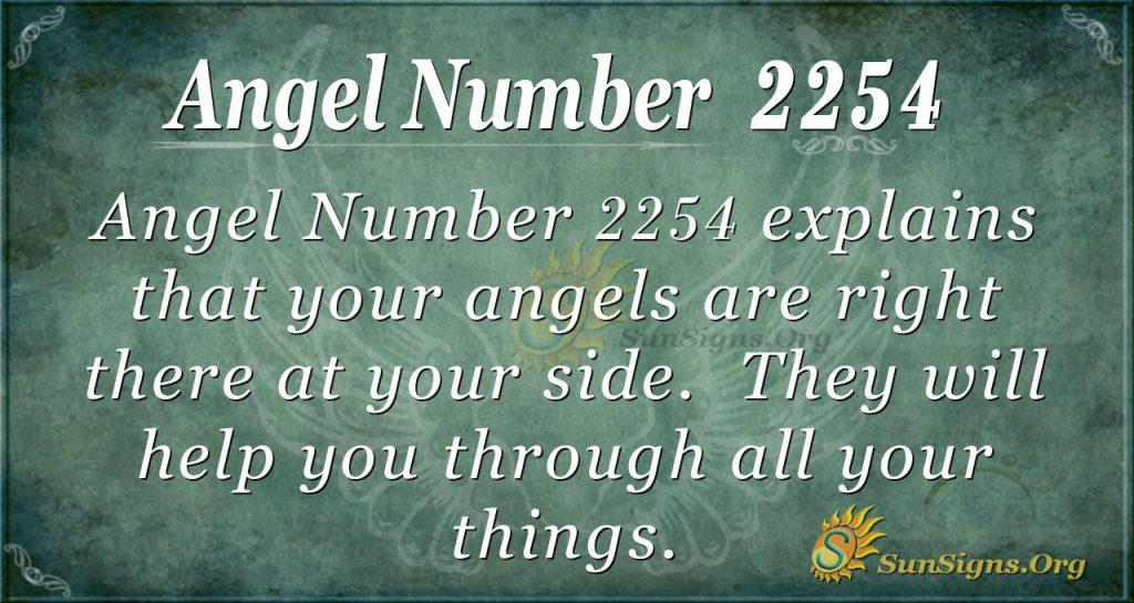 Angel Number 2254