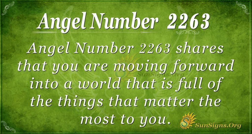 Angel Number 2263