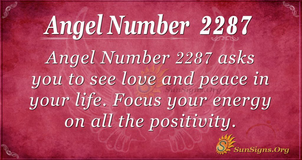 Angel Number 2287