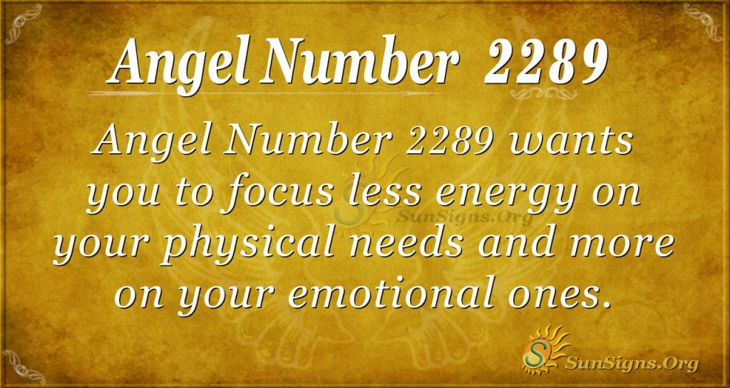 Angel Number 2289