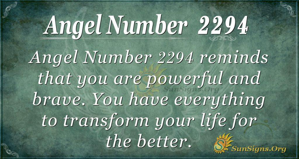 Angel number 2294