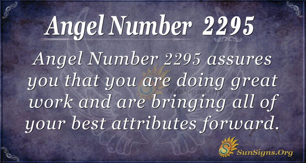 Angel Number 2295