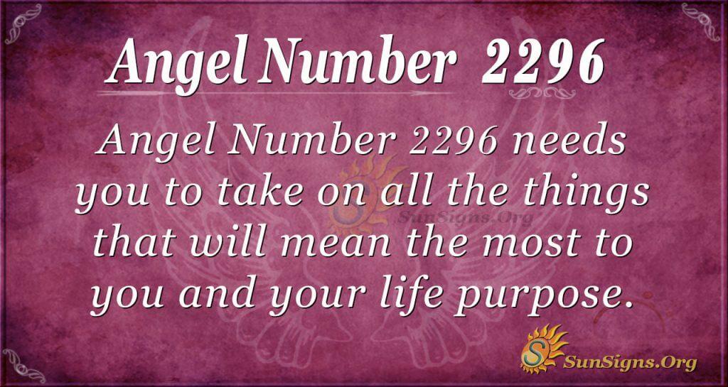 Angel Number 2296