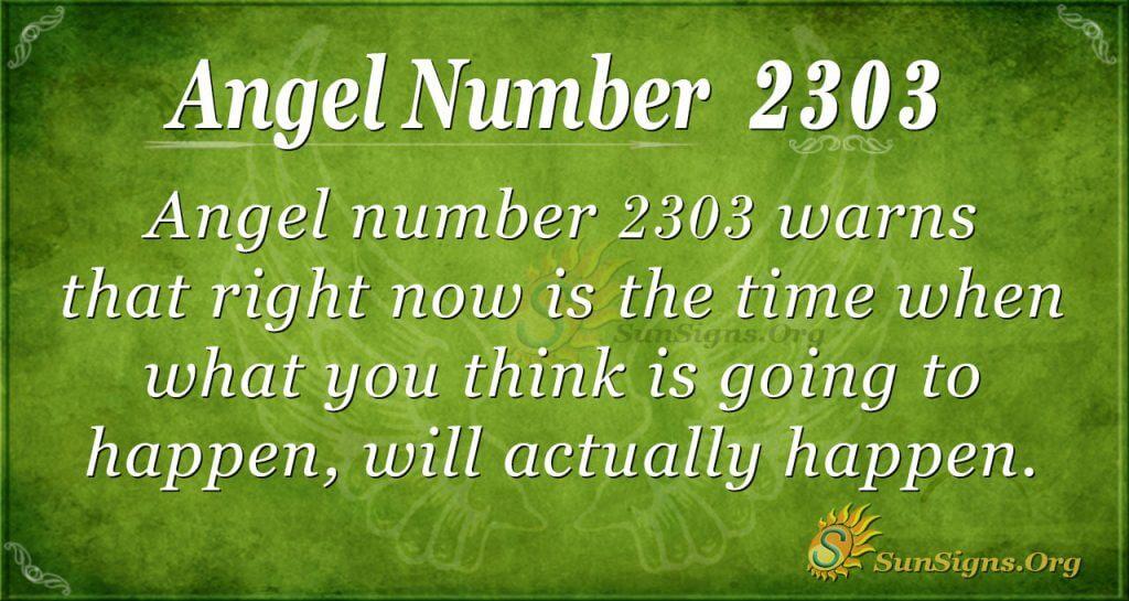 Angel Number 2303
