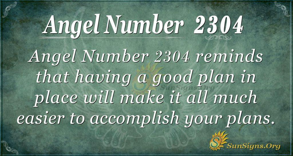 Angel number 2304