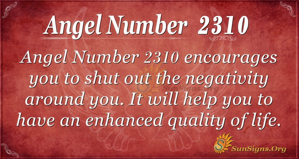 Angel number 2310