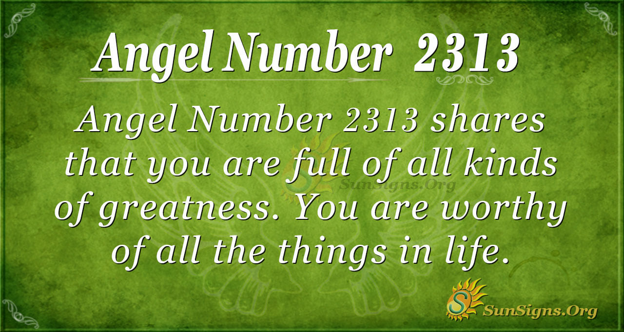 Angel Number 2313 Meaning