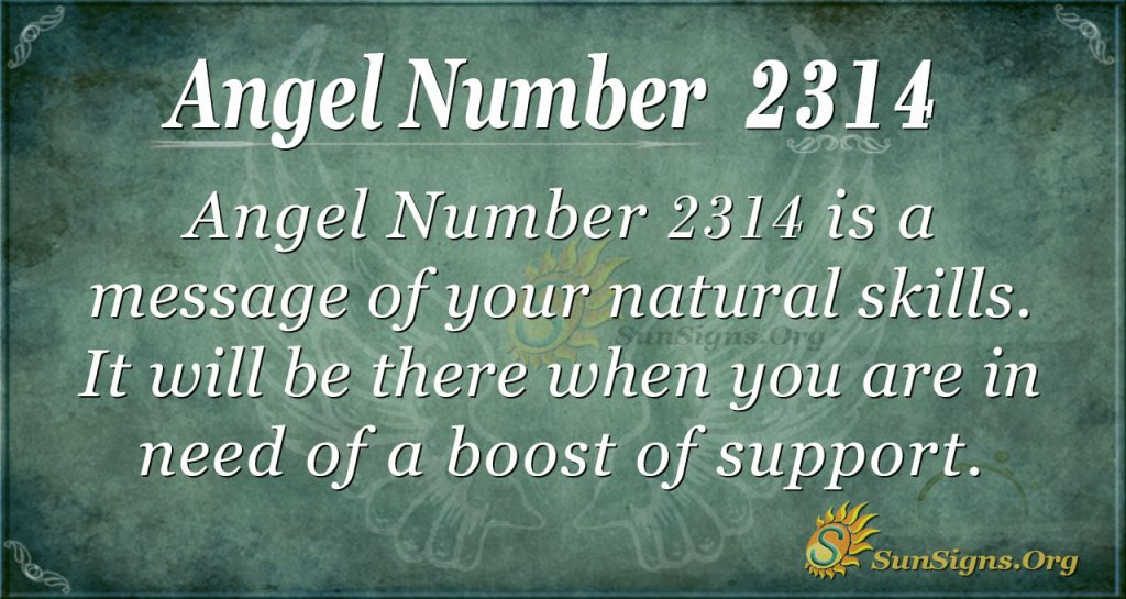 Angel Number 2314