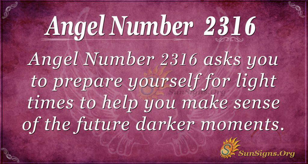 Angel Number 2316