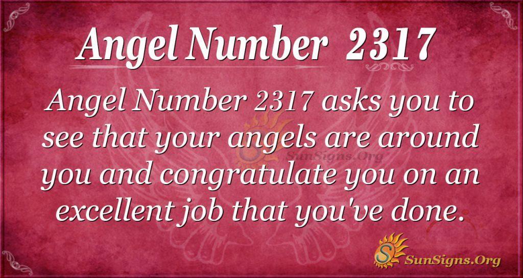 Angel number 2317