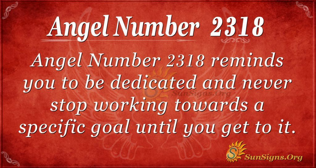 Angel number 2318