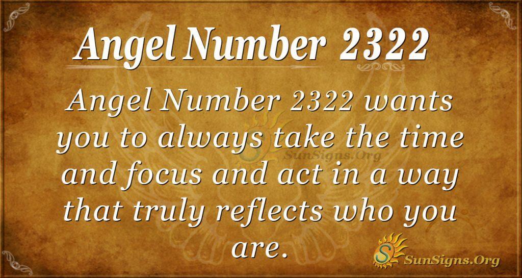 Angel Number 2322