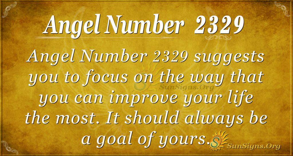 Angel number 2329