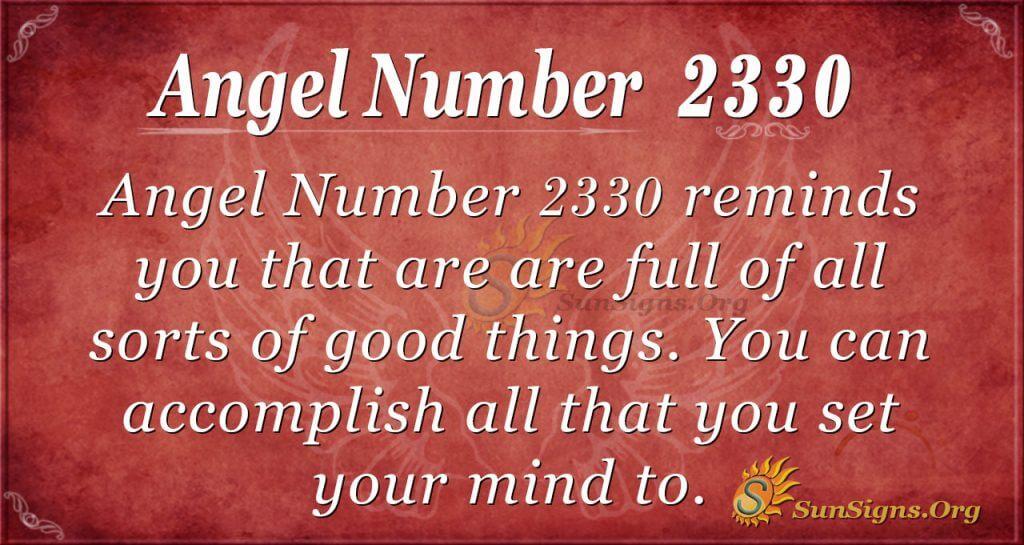 Angel number 2330