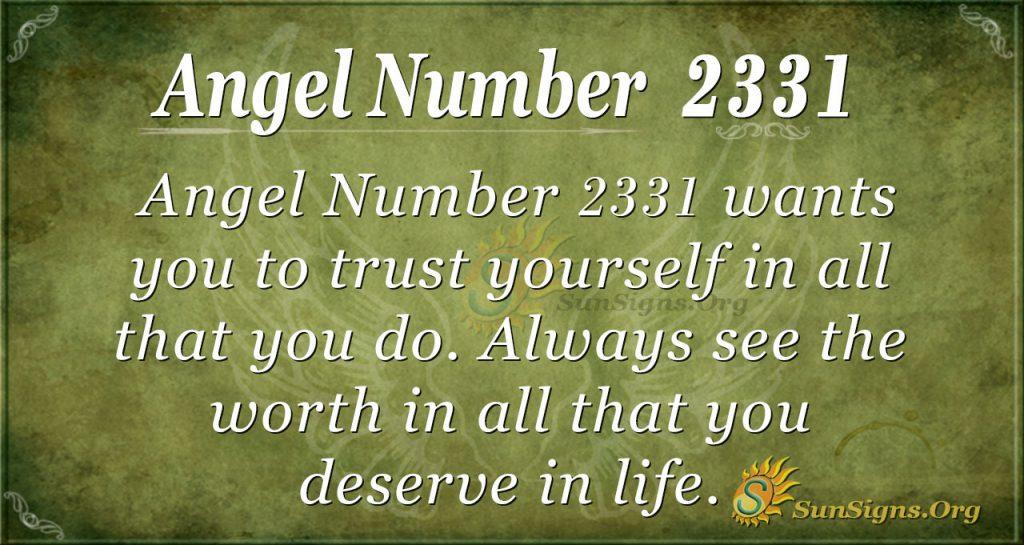 Angel Number 2331