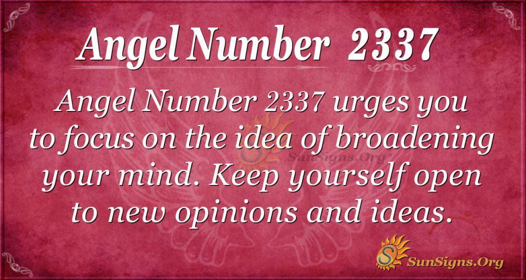 Angel number 2337