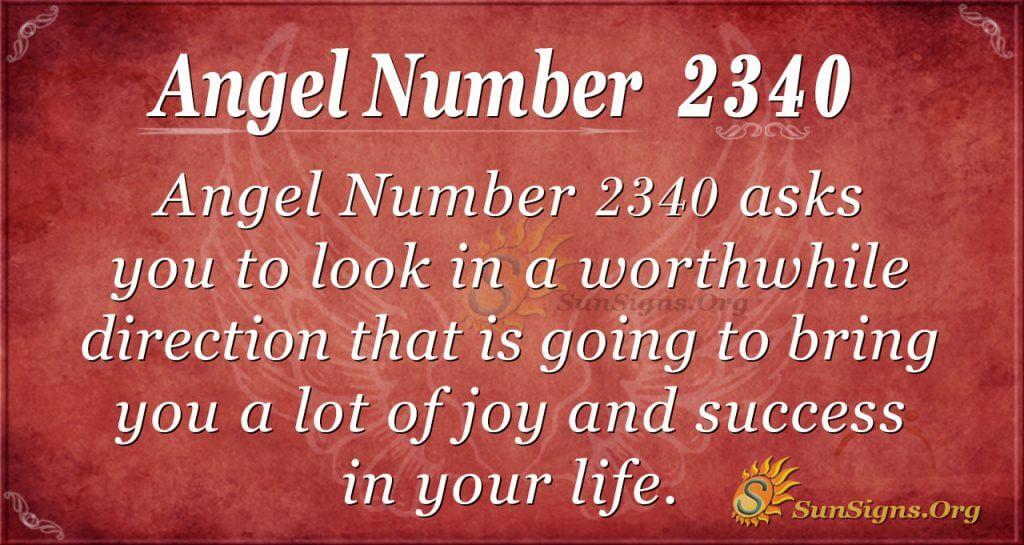 Angel number 2340