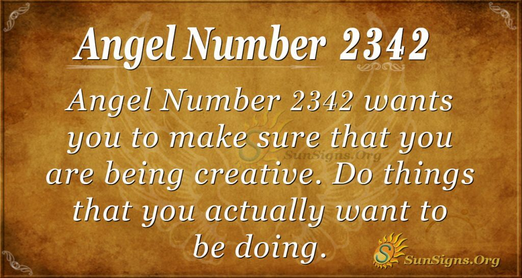 Angel Number 2342