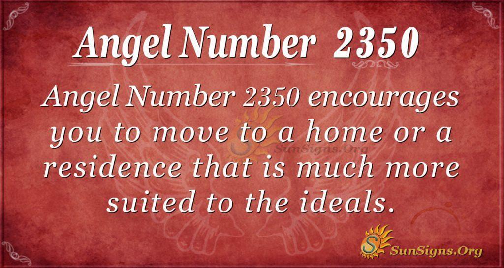 Angel number 2350