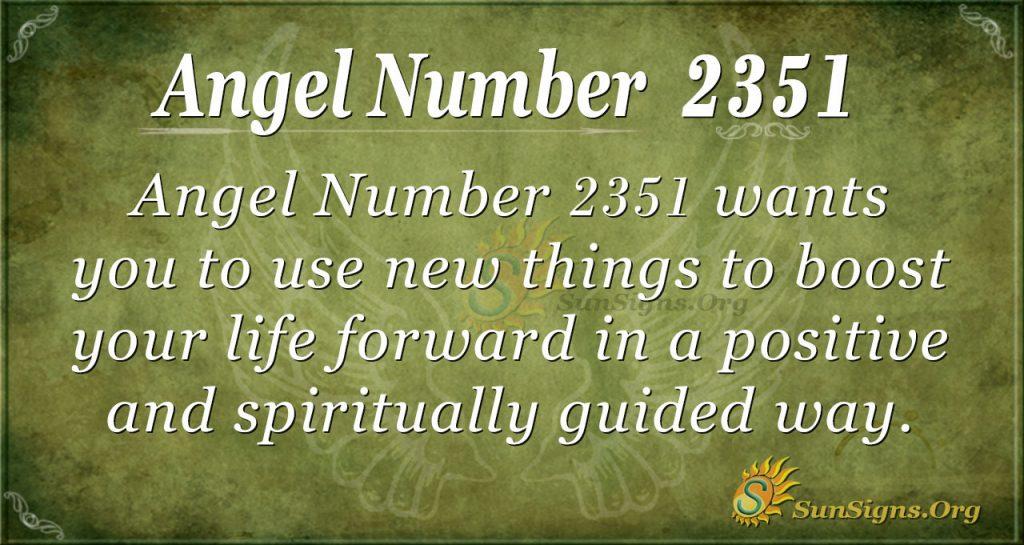 Angel number 2351