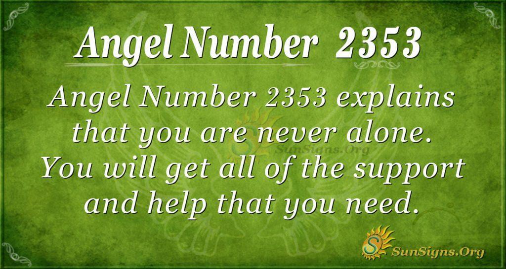 Angel number 2353