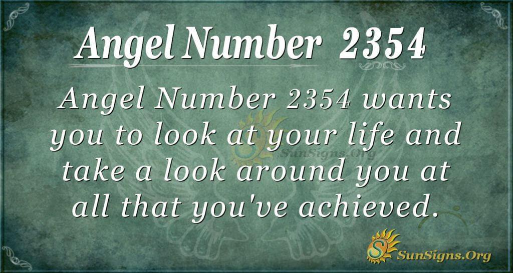 Angel Number 2354