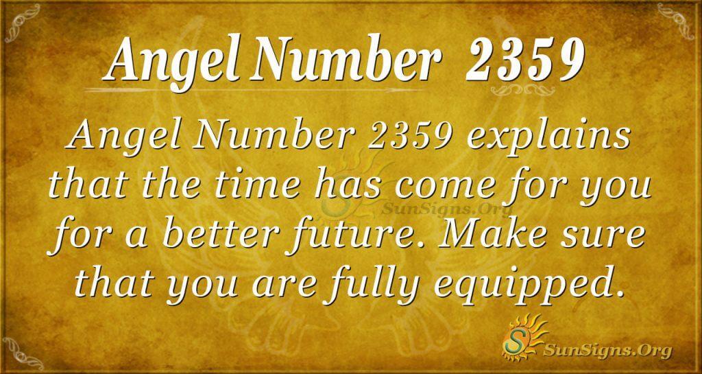 Angel Number 2359