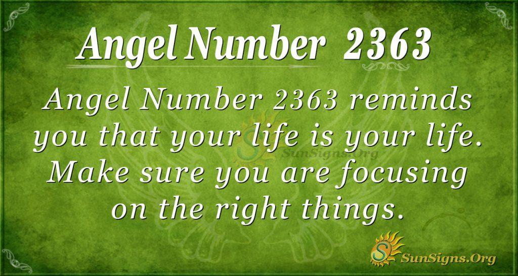 Angel Number 2363