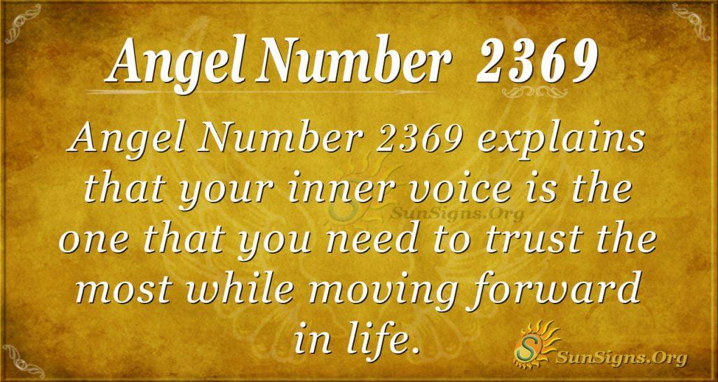 Angel Number 2369