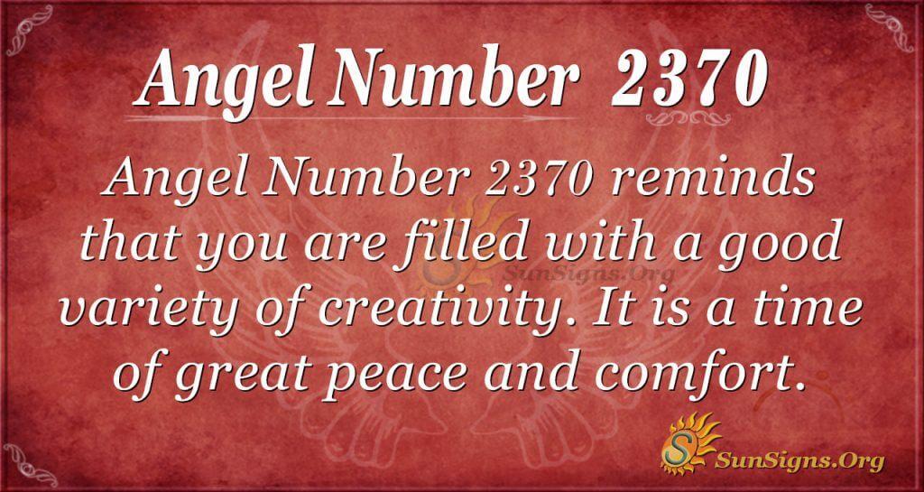 Angel number 2370