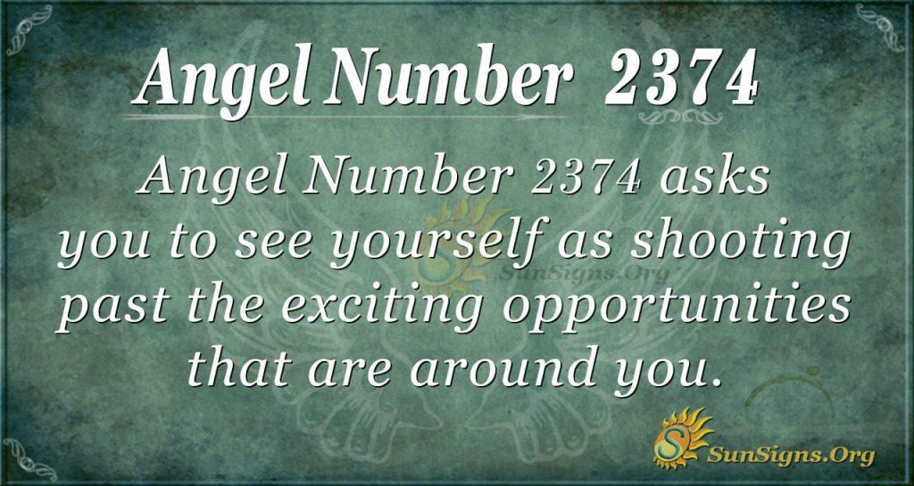 Angel number 2374
