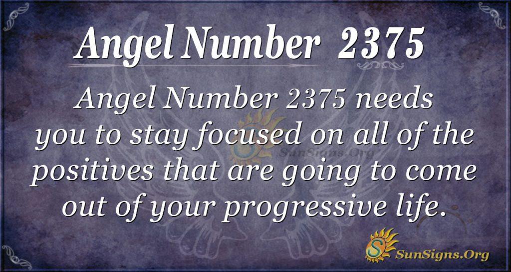 Angel Number 2375