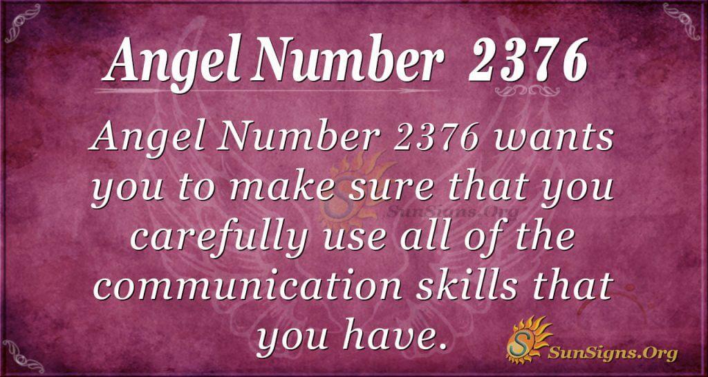 Angel Number 2376