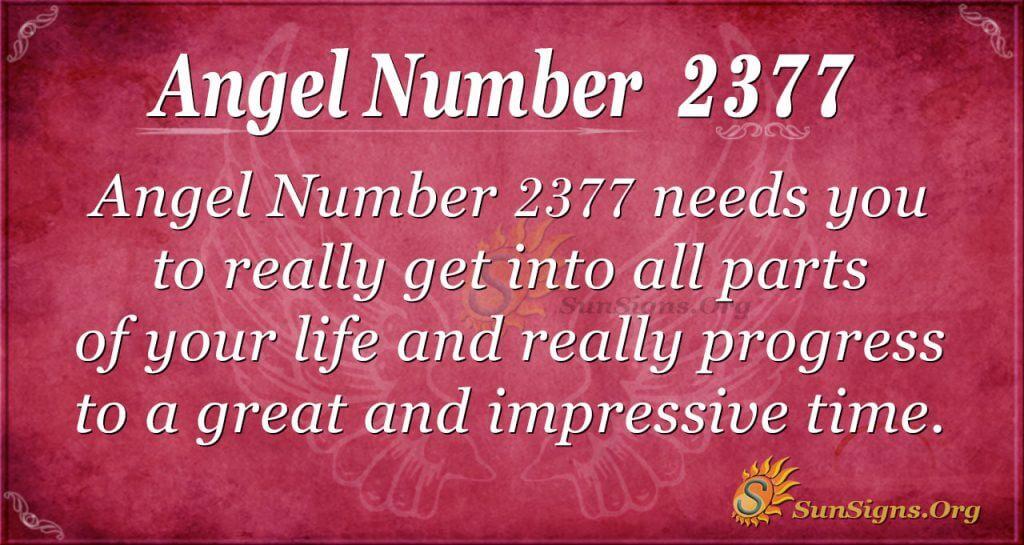 Angel Number 2377