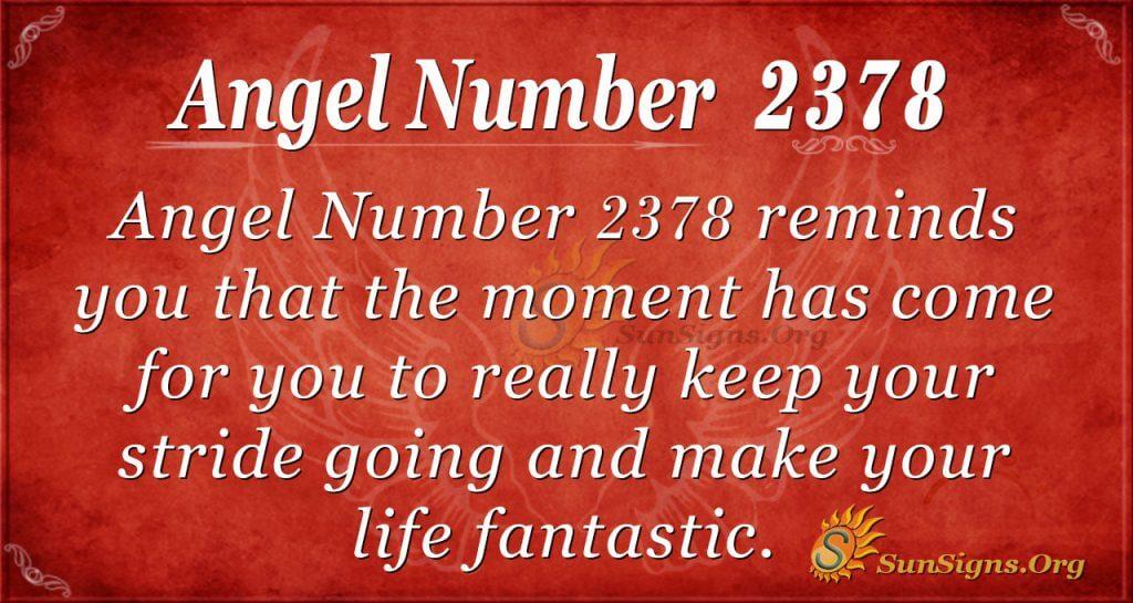 Angel number 2378