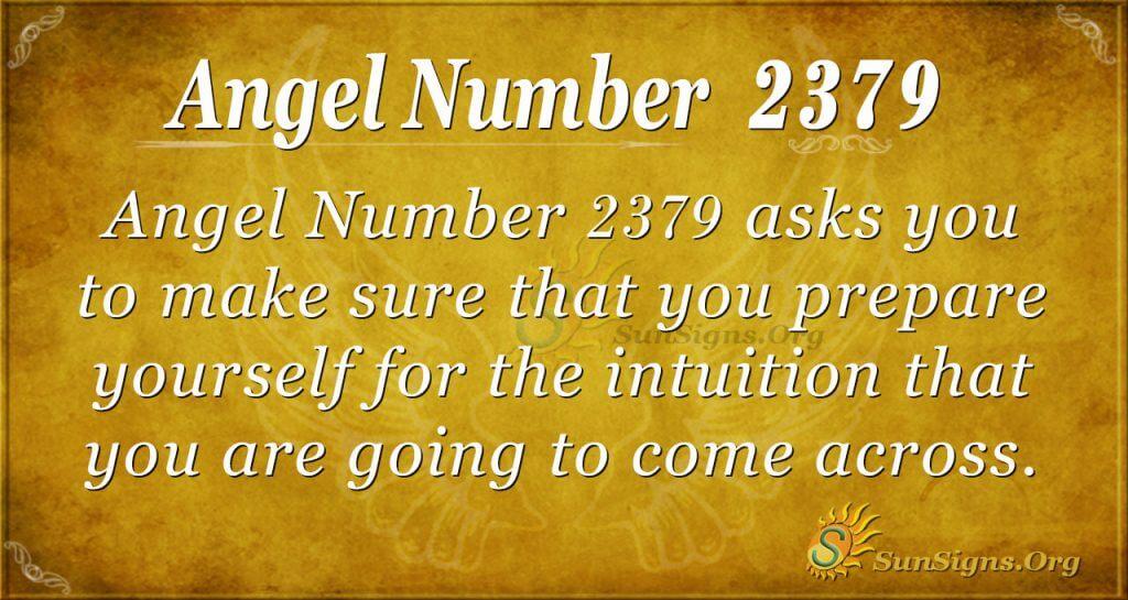 Angel number 2379