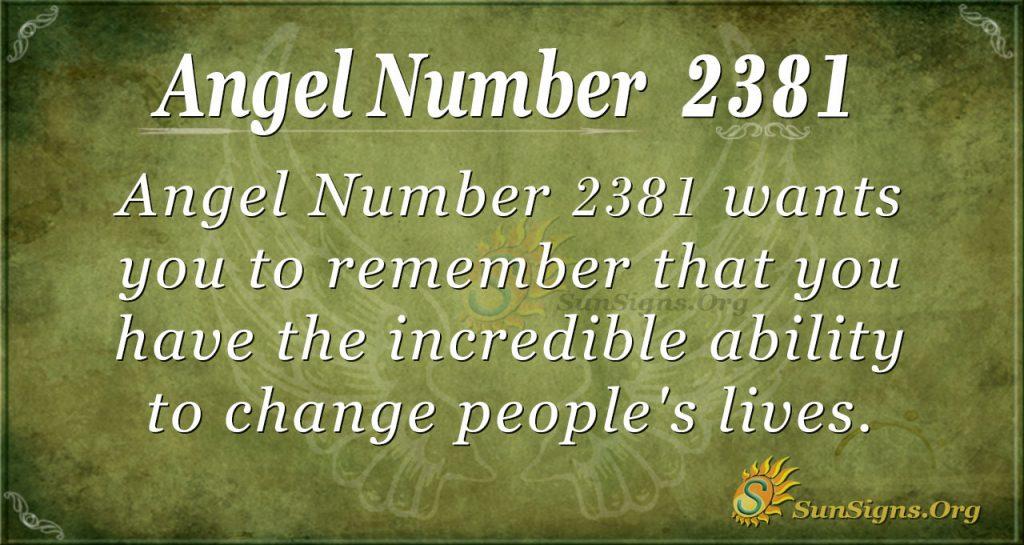 Angel number 2381