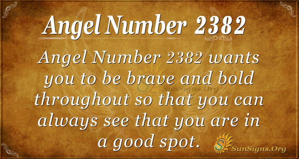 Angel Number 2382