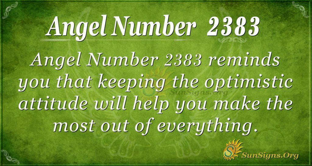 Angel number 2383