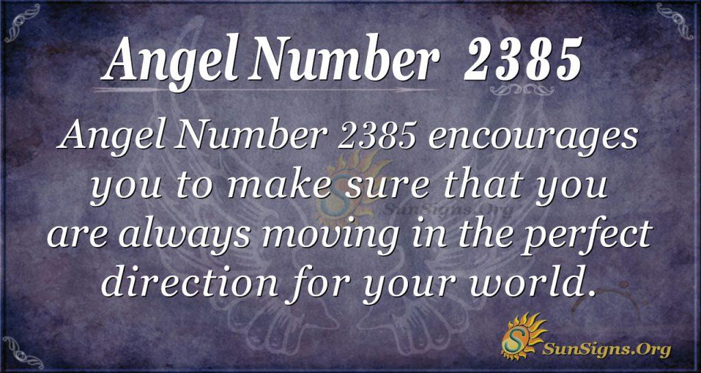Angel number 2385