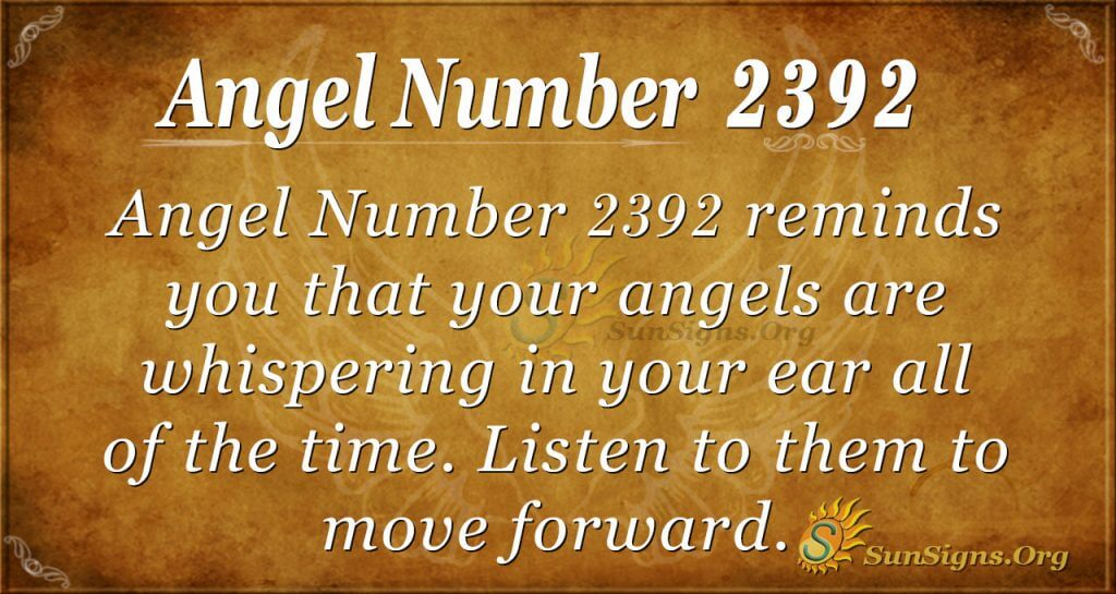 Angel number 2392