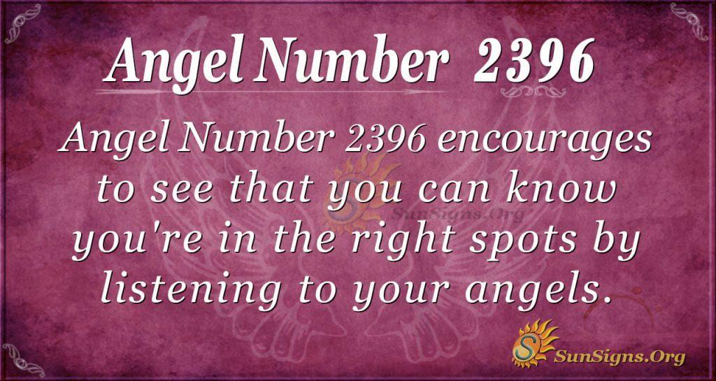 Angel number 2396